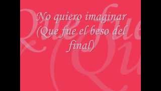 Christina Aguilera - El Beso Del Final - Letra