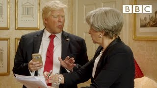 President Trump posts himself to the United England - BBC