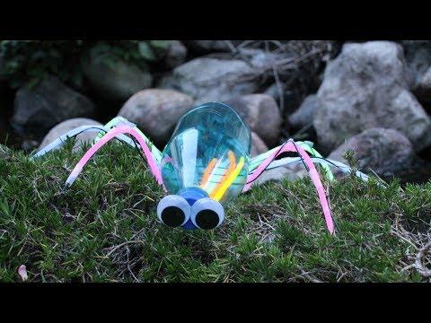 Bricolage insecte avec une bouteille en plastique