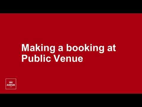 ABRSM - Making a Public Venue booking - YouTube