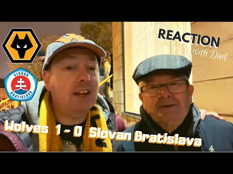 REACTION as Raul wins it 🏆 WOLVES 1-0 SLOVAN BRATISLAVA 😊 Europa League