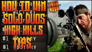 HOW TO WIN SOLO DUOS ON BLACKOUT! HOW TO GET MORE KILLS ON BLACKOUT! COD BO4 BLACKOUT BATTLE ROAYLE