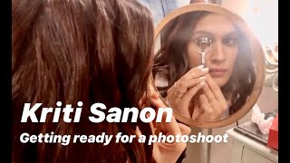 Kriti Sanon getting ready for a photo shoot