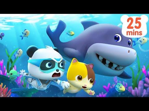 super panda s ocean rescue mission baby shark monster car pr