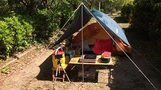 Mont・bellクロノスドームⅠ型とミニタープHX設営&グループキャンプ