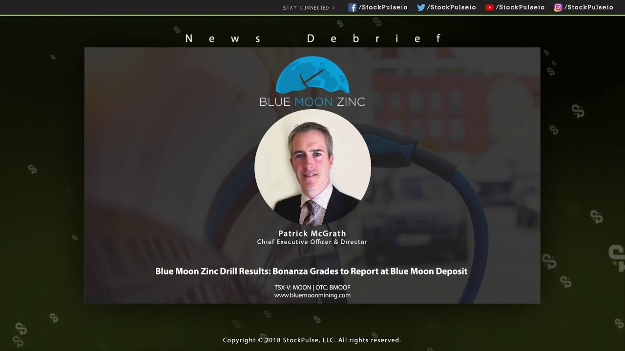 Blue Moon Zinc Drill Results: Bonanza Grades to Report at Blue Moon Deposit
