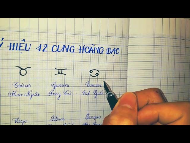 Vẽ ký hiệu 12 cung hoàng đạo đơn giản cho bé| How to draw symbols of 12 signs of the zodiac