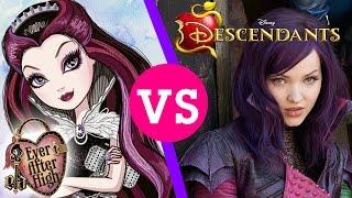 Disney's Descendants vs. Ever After High   A Once Upon a Time Battle!