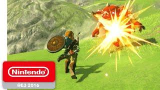 The Legend of Zelda: Breath of the Wild - Exploration Gameplay - Nintendo E3 2016 - dooclip.me