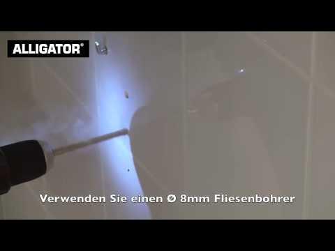 Badmöbel an Gipskartonplatte befestigen mit ALLIGATOR Dübel & Anker