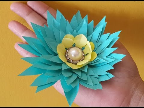 How To Make Easy Paper Flowers Step By Step Video Steemit