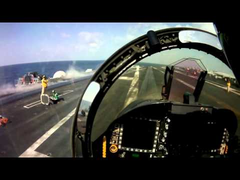 F/A 18 Hornet Cockpit View: Catapult Launch Takeoff - Aircraft Carrier Mp3