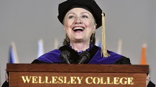 Hillary Clinton digs at Trump during college commencement address