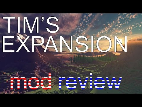 NEW BLOCKS!! | Tim's Expansion Mod | MINECRAFT Mod review |