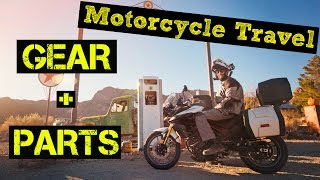 Motorcycle TRAVEL HACKS / GEAR + PARTS for LONG DISTANCE Motorcycle Trip Around the World [KLR 650]