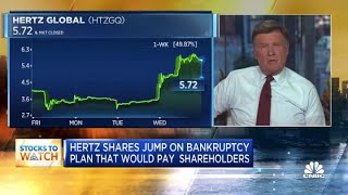 Hertz shares jump on bankruptcy plan that would pay shareholders