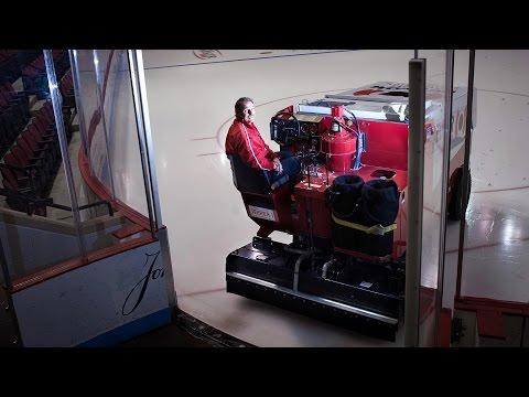 BU Hockey's Zamboni Driver