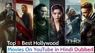 Top 8 Best Hollywood sci-fi Action Movies in Hindi on YouTube