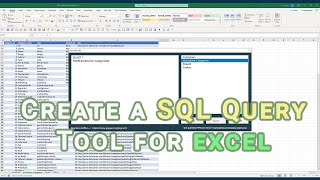 Create an Excel SQL Query Application to Write SQL Queries in Excel