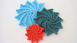 How To Crochet The Spiral Crochet Flower