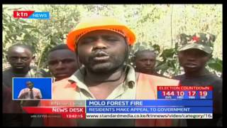 Molo residents request for emergency control facilities following fire outbreak in Molo forest