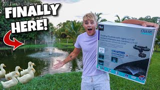 My $1000 FOUNTAIN for BACKYARD POND is HERE!!