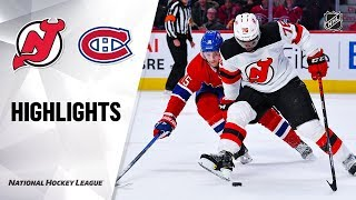 NHL Highlights | Devils @ Canadiens 11/16/19