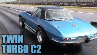 This Twin Turbo C2 Corvette is a Blast to Watch Run!
