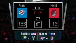 Thunder @ Trail Blazers LIVE Scoreboard - Join the conversation & catch all the action on #NBAonTNT!