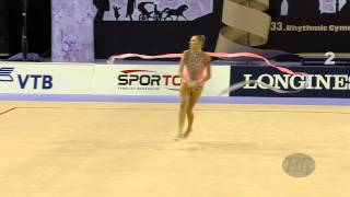 preview picture of video 'STANIOUTA Melitina (BLR) - 2014 Rhythmic Worlds, Izmir (TUR) - Qualifications Ribbon'