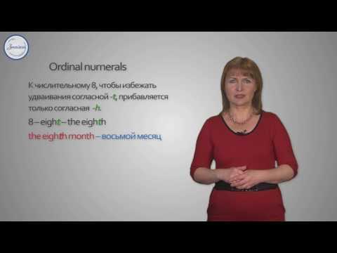 Ordinal numerals. Порядковые Числительные