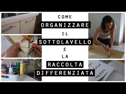 Come ORGANIZZARE il SOTTOLAVELLO e la RACCOLTA DIFFERENZIATA/IDEE per ORGANIZZARE CASA