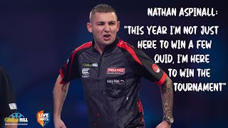 "Nathan Aspinall: ""This year I'm not just here to win a few quid, I'm here to win the tournament"""