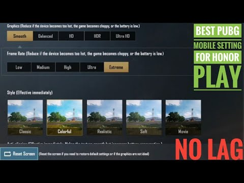 Honor Play Best Setting For PUBG Mobile🔥! No Lag No Frame Drop 😲 ! Play In Hd 😍