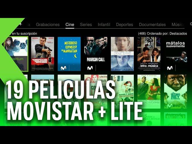 Las 19 MEJORES PELÍCULAS de Movistar + Lite, que podremos ver GRATIS durante la cuarentena