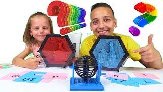 ЧЕЛЛЕНДЖ Вопрос Ответ с ПИН АРТАМИ Challenge Pin art 3-D Настя и Саша рассказали всю правду