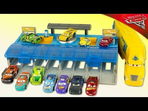 Disney Cars 3 Mega Lanceur Cruz Ramirez McQueen Ultimate Launcher Jouet Toy Review