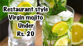 Quick Lime & mint mojito in lockdowns | 2 glasses under Rs.20 | quarantines cooking | summer coolers