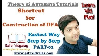 How to construct a DFA in Automata | Shortcut Easiest Way Step by Step | Part-01