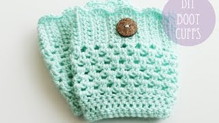 CROCHET TUTORIAL - BOOT CUFFS