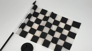 F1 Marshal Table Chequered Flag / Drapeau de table à damier in 4K