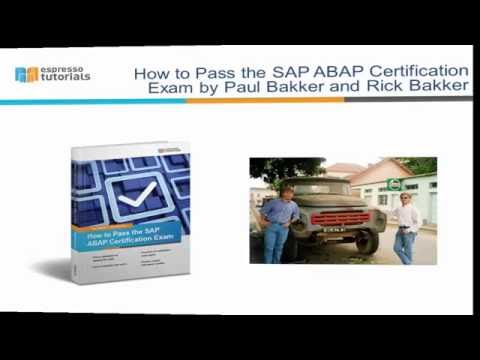 How to Pass the SAP ABAP Certification Exam - YouTube