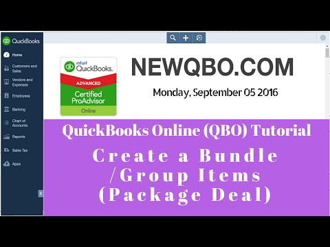 QuickBooks Online QBO - create a bundle, group items, sell package deal