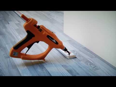 KLICK VINYL Sockelleisten mit einer Döllken-Stanze montieren