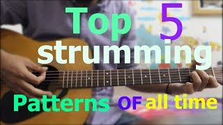Top 5 Strumming Patterns on Guitar Of all time - Hindi Beginners Guitars lesson easy best