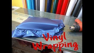 How To Wrap Vinyl On Motorcycle Parts  - Tutorial Video
