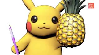 Pokemon Pikachu PPAP Pen Pineapple Apple Pen   Funny Videos for Kids by Happy To You