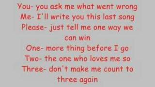 All American Rejects - Happy Endings [WITH LYRICS]
