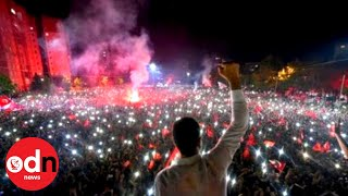 Crowds celebrate defeat of Erdogan's AK Party in Istanbul election re-run