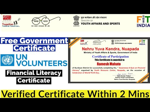 Free Government Certificate | Financial Literacy Certificate | Free ...